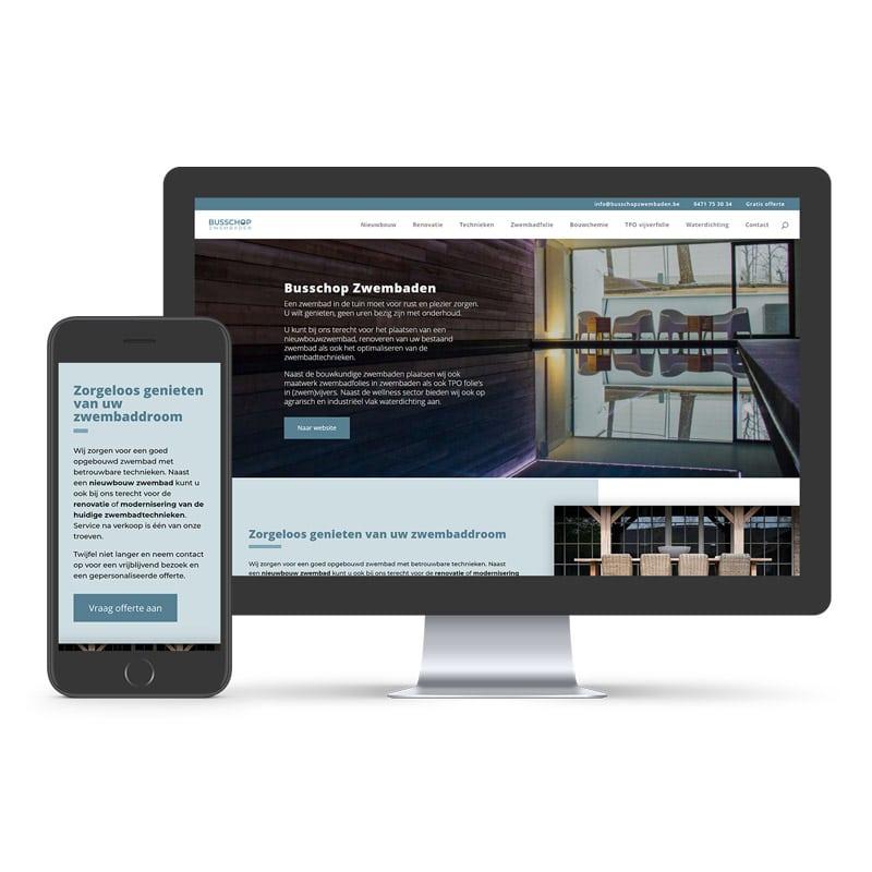 Website Busschop Zwembaden